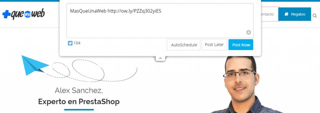 extensión Chrome Hootsuite