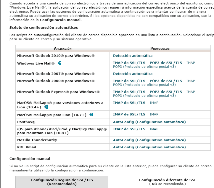 configuracion manual cuenta dominio
