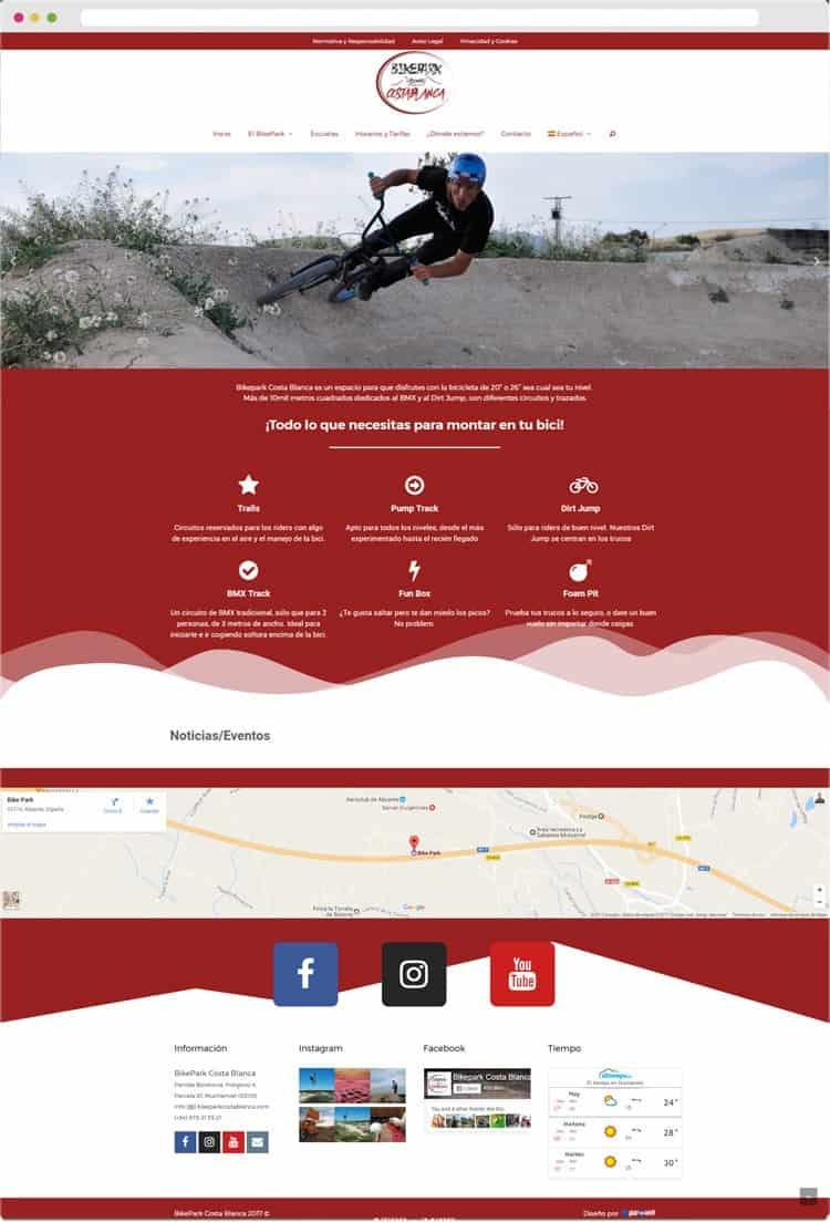 Full Preview Página Web del BikePark Costa Blanca